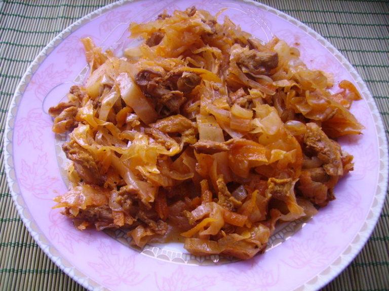 солянка из капусты с сухими грибами