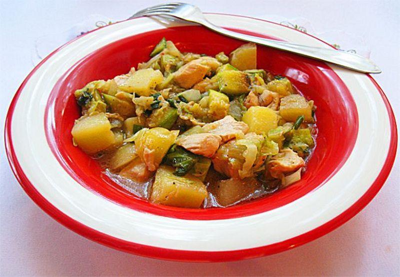 овощное рагу в мультиварке с курицей и грибами