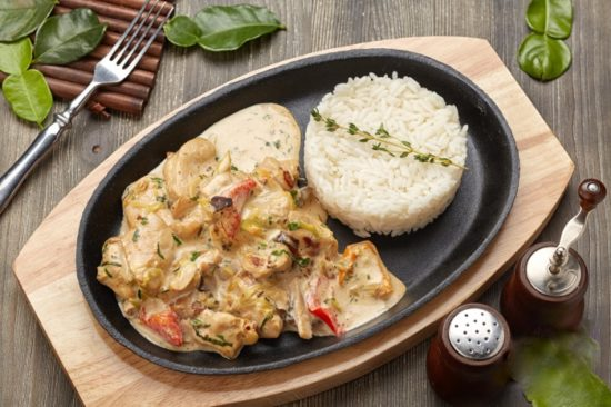 рецепт курица с грибами в сливочном соусе