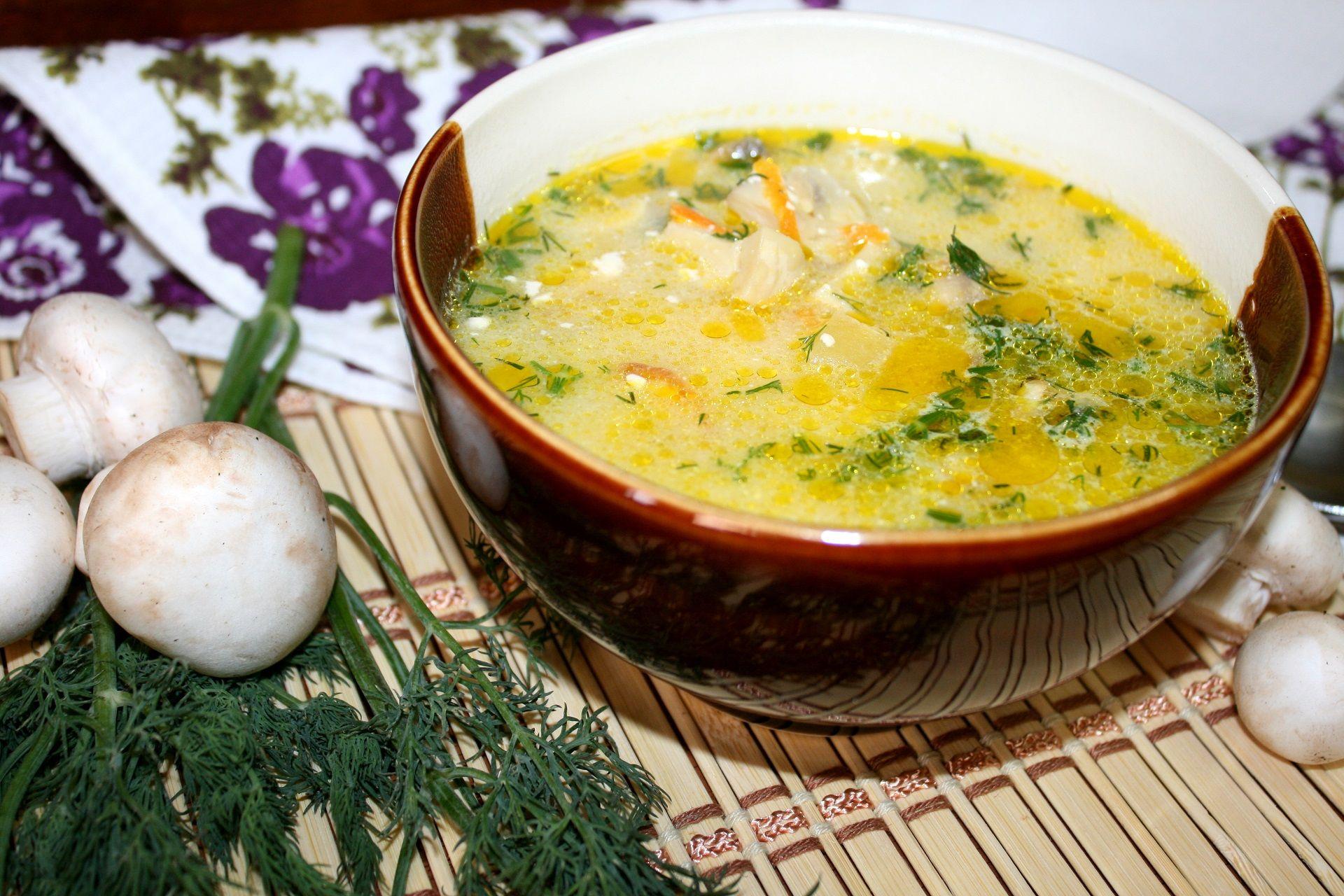суп с шампиньонами рецепт в мультиварке