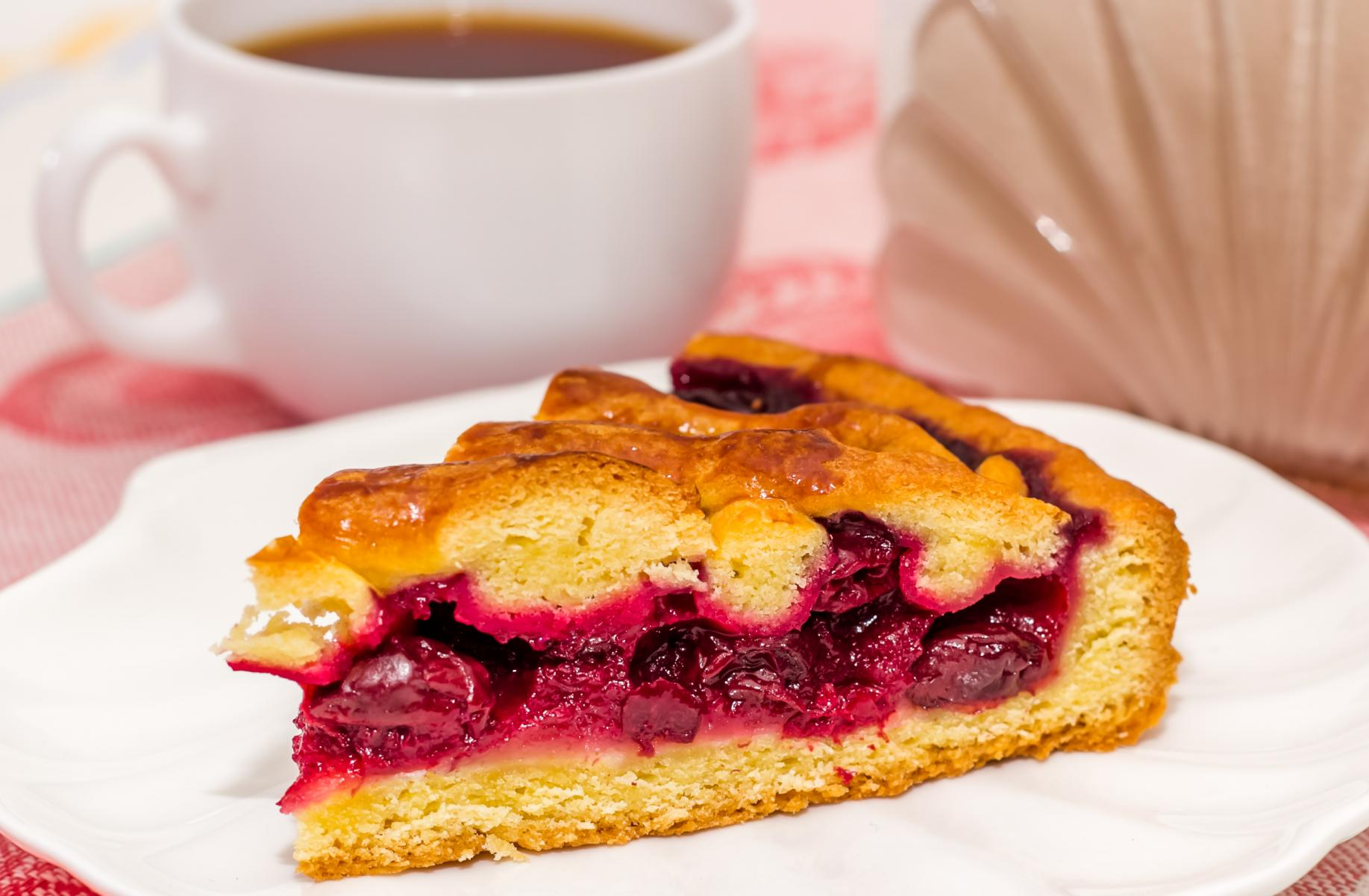 вишнёвый пирог из дрожжевого теста рецепт с фото
