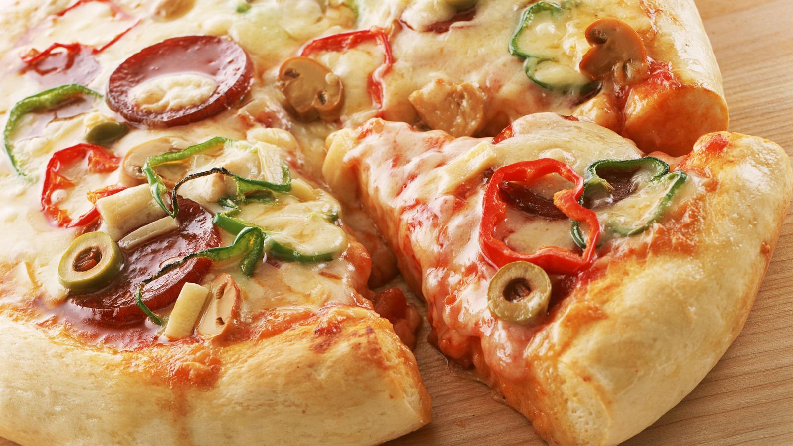Как сделать пиццу без дрожжей рецепт фото 824