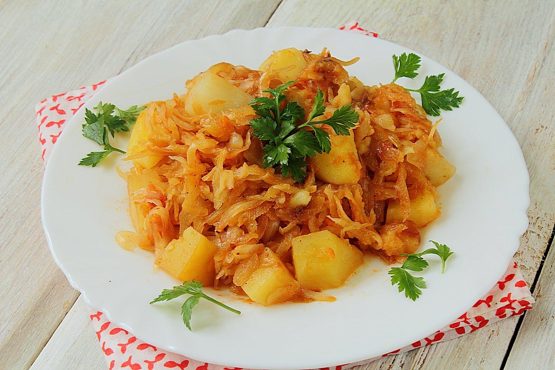 картошка с капустой жареная