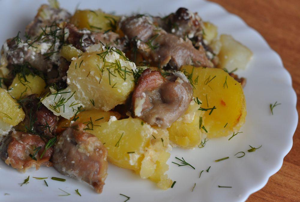Печень в мультиварке со сметаной и картошкой рецепт с фото