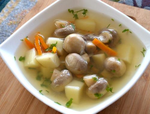 Суп из шампиньонов в мультиварке редмонд